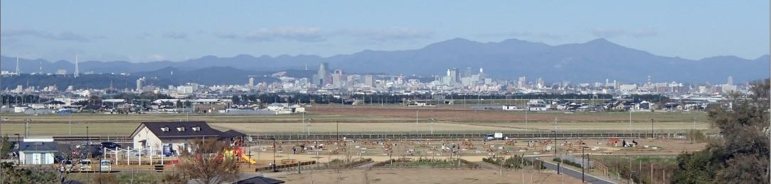 画像:仙台市街を望む