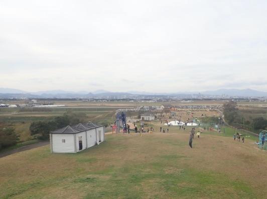 画像:避難の丘から仙台市街をを臨む